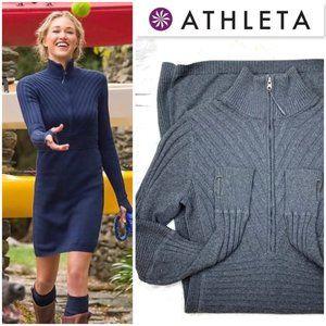 |•ATHLETA•| OC Rib 1/2 Zip Sweater Dress